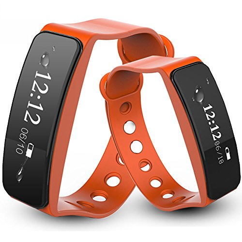 Fitness Tracker Activity Watch Step Walking Sleep Counter Wireless Wristband Pedometer Exercise Tracking Sweatproof Sports Bracelet for Android and Ios Orange (Pivotal Living App For Kindle compare prices)