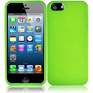 HR Wireless Rubberized Protective Carrying Case for iPhone 5/5S - Retail Packaging - Neon Green