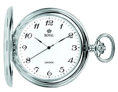 Royal London Pocket Watch 90020-01 Silver Tone Full Hunter
