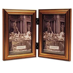 Lawrence Frames Antique Gold Wood Double 4x6 Picture Frame - Classic Design