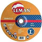 Leman 126049.05 Lot de 5 Disques d'ébarbage pour métal MD 125 x 6,0 x 22,23 mm