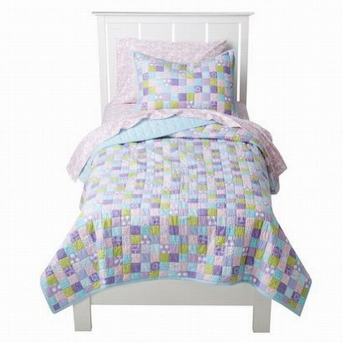Circo Pretty Patches Stitched Full Queen Quilt Shams Set Patchwork Comforter front-819810