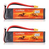 FLOUREON 2Packs 3S 11.1V 5500mAh 35C Lipo Battery Pack with XT60 Plug for RC Quadcopter Airplane Helicopter Car Truck Boat Hobby (XT60 Plug) (Color: Xt60 Plug, Tamaño: XT60 Plug)
