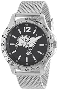 Game Time Mens NFL-CAG-TB Cage NFL Series Tampa Bay Buccaneers 3-Hand Analog Watch by Game Time