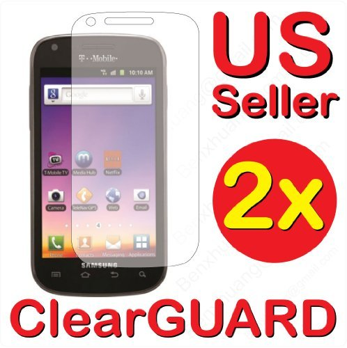 2x Samsung Galaxy S Blaze 4G SGH-T769 (T-Mobile) Premium Invisible Clear LCD Screen Protector Kit (2 Piece Kit)