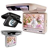 (CR903) XTRONS 9インチ フリップダウン DVDプレーヤー モニターゲーム機能 高画質 USB SD FM/IRトランスミッター (グレー)