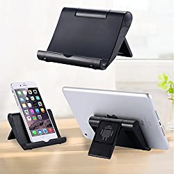 Realike Multi-Angle Portable Stand fits all Tablet / Smartphone / Pad E-readers(Black)