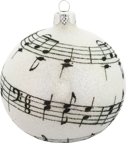 Glass christmas ornament 276 quot silent night quot 4 5 quot ball with music