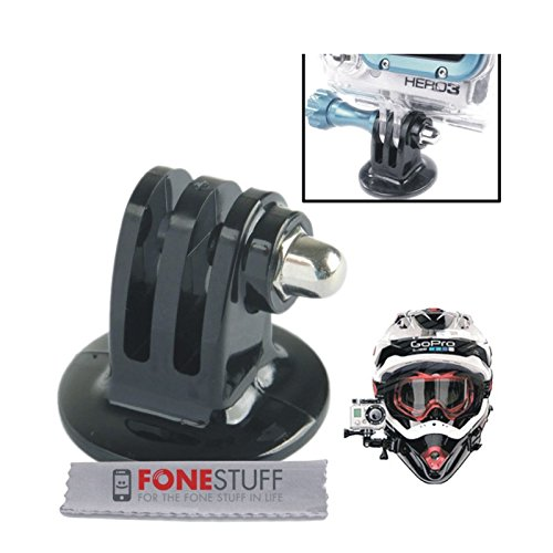Fone-Stuff GoPro trépied connecteur de l'adaptateur - caméra poulpe monopode selfie de bâton pour héros 4 / 3+ / 3/2/1 en noir