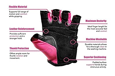 Gym Gloves For Powerlifting, Weight Training, Biking, Cycling, Crossfit Equipment - Premium Quality Weights Lifting Gloves For Women Workout Gloves w/ Washable For Callus And Blister Protection!