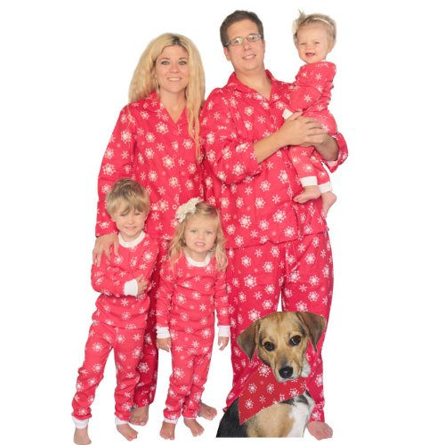 Red Snowflakes Family Matching Flannel Pajamas By Sleepytimepjs (6-12M) front-994620