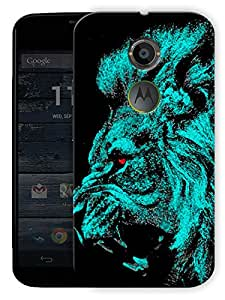 """Almighty Lion Printed Designer Mobile Back Cover For """"Motorola Moto X2"""" By Humor Gang (3D, Matte Finish, Premium Quality, Protective Snap On Slim Hard Phone Case, Multi Color)"""