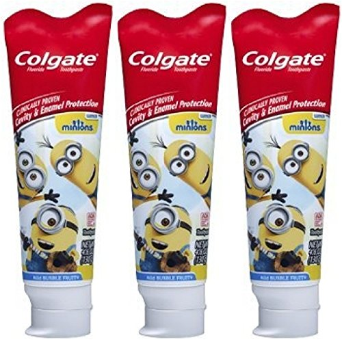Colgate Minions Mild Bubble Fruit Fluoride Toothpaste, 4.6 oz (Pack Of 3) (Minions Fruit compare prices)