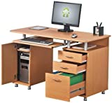 Piranha PC2b Large Computer Desk with 3 Drawers and a Cabinet
