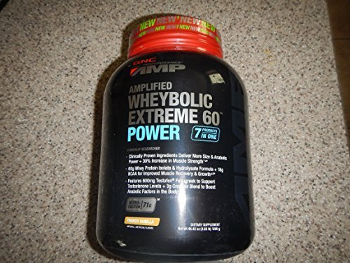 GNC Pro Performance AMP Amplified Whey-Bolic Extreme 60 Power Powder, French Vanilla, 1.14 Pound by GNC (Wheybolic Extreme 60 Power compare prices)
