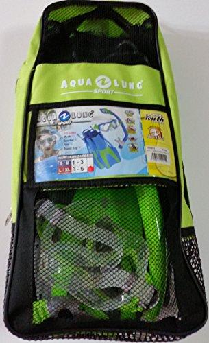 Aqua Lung Sport Set, 5 pc includes Mask, Snorkel, Fins (2), Travel Bag (Aqua Lung Sport Pro Series compare prices)