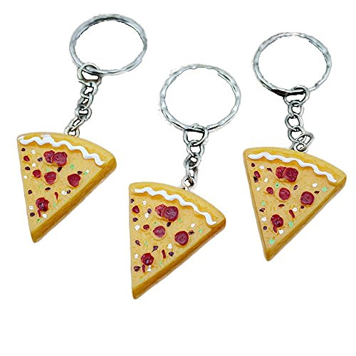 Pizza-Pendant-Key-Chain-Keyring-Key-Holder-Key-Buckle-Purse-Bag-Charm-Key-Jewelry-Chic-Accessories-Ornaments-10-PCS