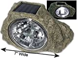 "Large 7"" wide Garden Solar Rock Lights Outdoor"