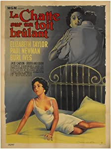 Cat On a Hot Tin Roof Movie Poster (11 x 17 Inches - 28cm x 44cm) (1958) French Style A -(Paul Newman)(Burl Ives)(Elizabeth Taylor)(Jack Carson)(Judith Anderson)