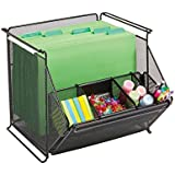 Safco Products 2164BL Onyx Mesh Stackable Storage Bins, Black