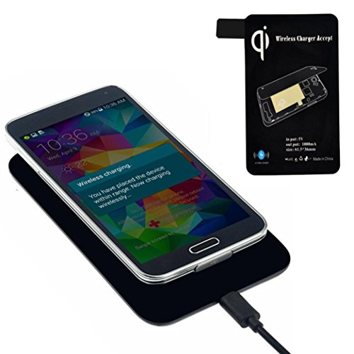 DZT1968® Qi Wireless Charger Charging Pad + Receiver Tag For Samsung Galaxy S5 (Samsung Galaxy S5 Charging Pad compare prices)