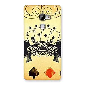 Stylish Guns And Cards Back Case Cover for LeTv Le Max