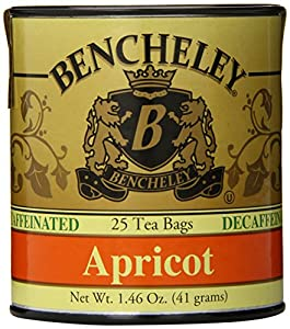 Bencheley Tea Bags Decaf, Apricot, 25-Count (Pack of 6)