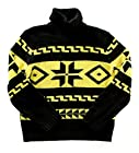Polo Ralph Lauren Men Motif Design Turtleneck Sweater (L, Black/Yellow)