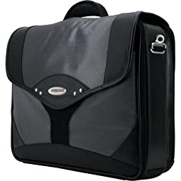 Mobile Edg,E Premium Briefcase Notebook Carrying Case 15.4'' Black, Charcoal ''Product Category: Supplies & Accessories/Notebook Carrying Cases''