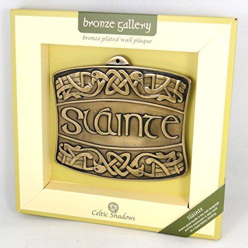Celtic Galerie Bronze Slainte Plaque