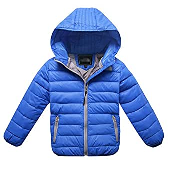 Amazon.com: Big Boys Girls Winter Hooded Jacket Coat