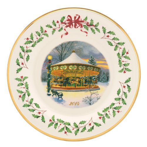 Lenox 2014 Holiday Collectors Plate Carousel front-934361