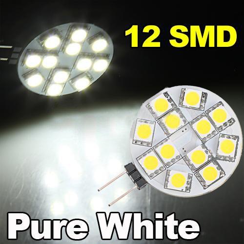 TOOGOO(R) G4 12 5050 SMD LED-Licht reinweiss Start Automeeres Gluehbirne fuer Boote