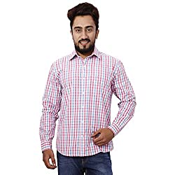 Gustrow Men's Casual Shirt (GUS104-003_Pink_38)