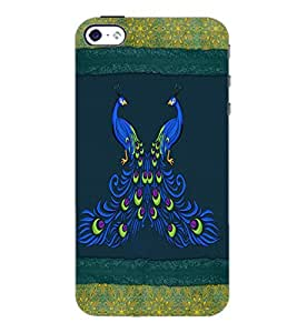 PrintDhaba Peacock D-4601 Back Case Cover for APPLE IPHONE 4 (Multi-Coloured)