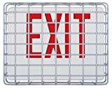 STI 9640 Exit Sign Damage Stopper, Protective Coated Steel Wire Guard