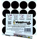 Ziggyboard Chalkboard for Small Spice Jar size Labels with Chalk Marker fit Libbey 4 1/2 Ounce (White, Fine Tip 1mm Chalk Marker)