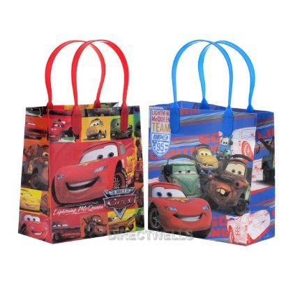 "Disney Car Party Favor Licensed Reusable Small Goody Gift Bags 6"" (12 Bags)"