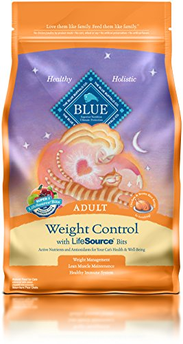 Blue Buffalo Adult Cat Weight Control Formula Dry Cat Food, 7 lb Bag