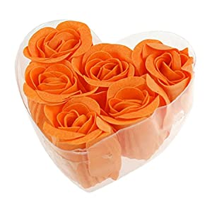 Amazon Com 6 Pcs Rose Flower Scented Bath Soap Petals
