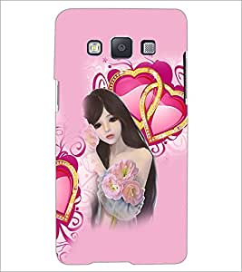 PrintDhaba Love Girl D-4131 Back Case Cover for SAMSUNG GALAXY A5 (Multi-Coloured)