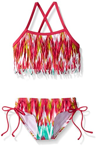 Kanu Surf Baby Kelly Fringe Bikini Swim Suit, Pink, 24 Months