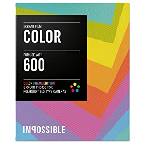 Impossible Color Film for Polaroid 600-Type Camera Frame