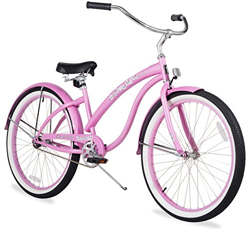 Firmstrong Bella Classic Single Speed Beach Cruiser Bicycle 26Inch Pink Sp