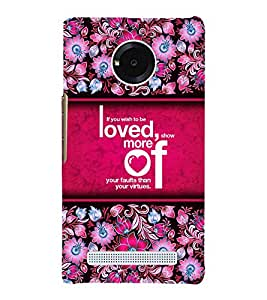 Wish To Be Loved 3D Hard Polycarbonate Designer Back Case Cover for YU Yunique
