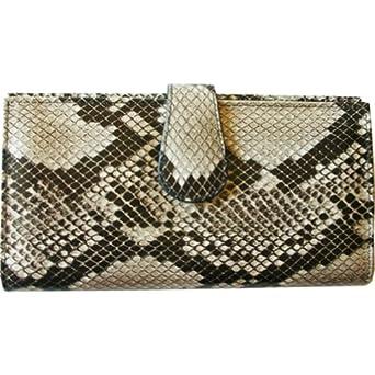 ILI Ladies Clutch Wallet Italian Python Print on Cowhide Leather - Python Print