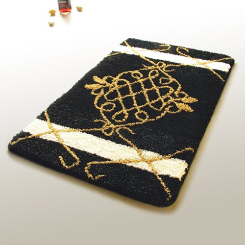 Naomi - [Royal Black] Luxury Home Rugs (19.7 by 31.5 inches)