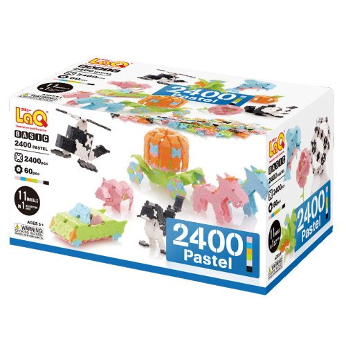 LaQ Basic 2400 Pastel Model Building Kit
