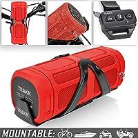 TRAKK ACTIV Weatherproof 16W Bike Speaker & Power Bank (Red)