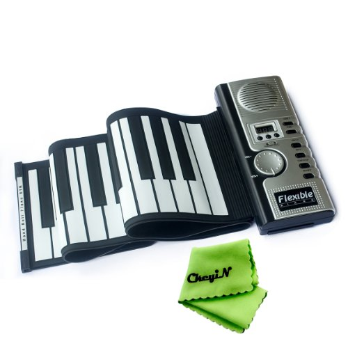 Ckeyin 61 Keys Flexible Roll-Up Soft Keyboard Piano Midi Folding Electronic Piano Musical Instruments